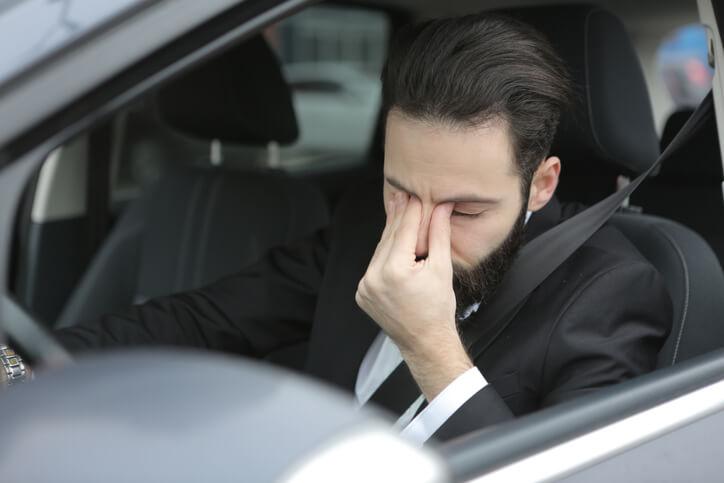 Sleepy Driver Car Accident