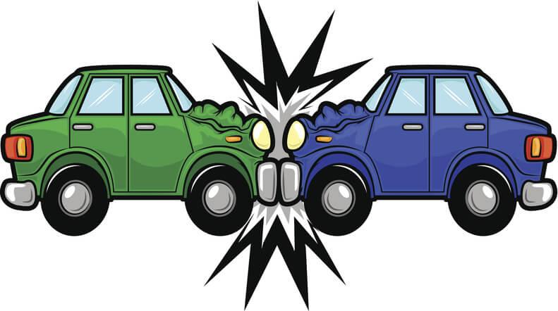 frontal-impact car crashes