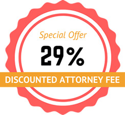 Discounted 29% Attorney Fee Special Offer Badge (small)