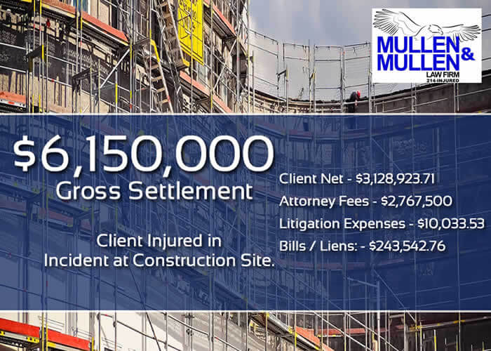 $6,150,000 Verdict by Attorney for Client Injured on Job at Construction Site in Dallas