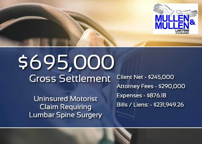 $695,000 Settlement for Client Who Required Surgery After Being Hit by an Uninsured Motorist