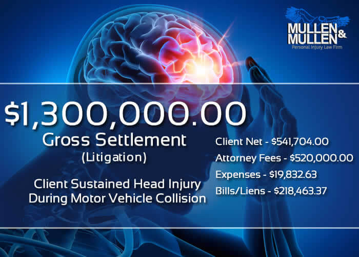 $1,300,000 Verdict for Dallas Client Who Sustained a Head Injury in a Motor Vehicle Collision