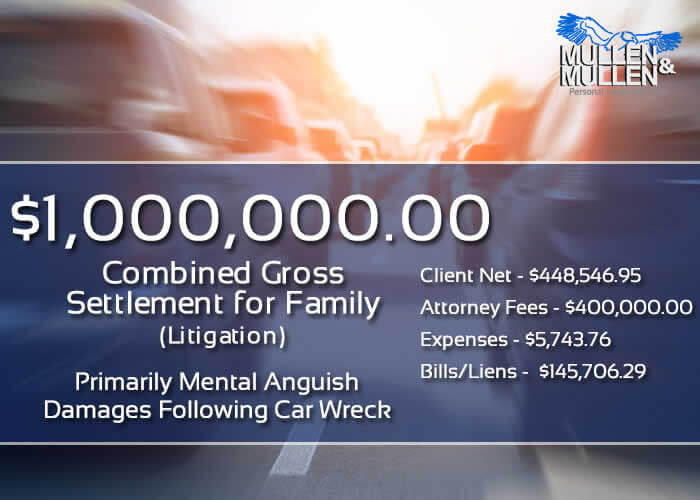 $1,000,000 Personal Injury Verdict for Dallas Family with Mental Anguish Following a Car Wreck